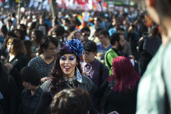 La alegría de los colores también se manifestó en Chile.