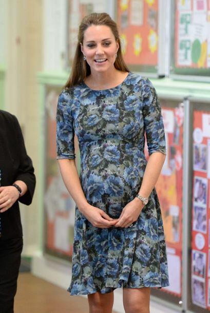 Aún embarasadísima, Kate jamás dejó de lucir fenomenal.
