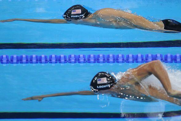 Los 200 metros libres fue la primera prueba en la que Phels y Lochte se...