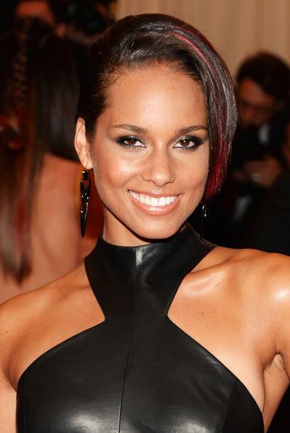 Alicia Keys nos mostró un buen equilibrio, que posiblemente marqu...