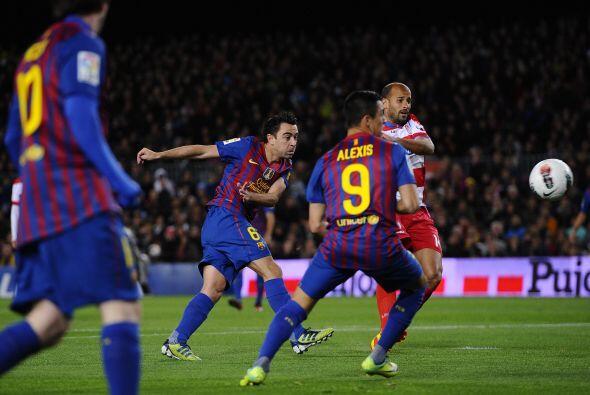 Era el 1 a 0 para los 'culé' y un nuevo tanto para Xavi, que suma...