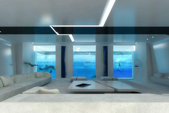 El interior de su casa luce así.