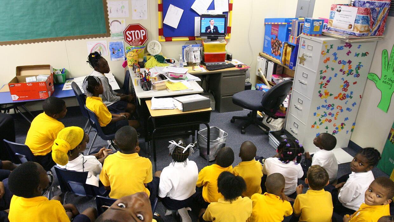 Alumnos en el Nap Ford Charter School, en Orlando.