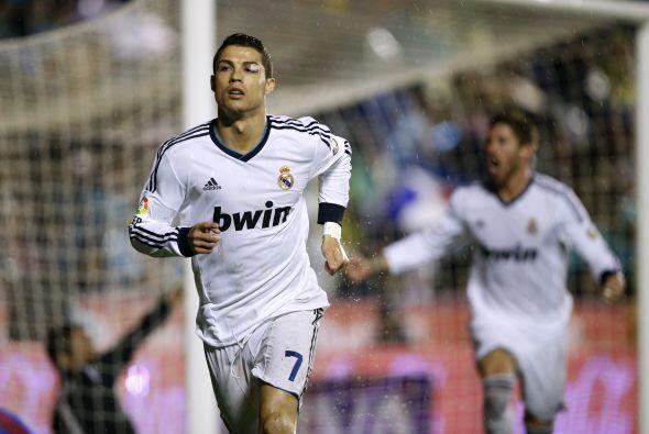Pero el capitán del barco blanco fue Cristiano Ronaldo para abrir...