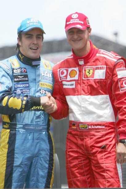 El español Fernando Alonso, un piloto que ya se había consolidado en Fór...