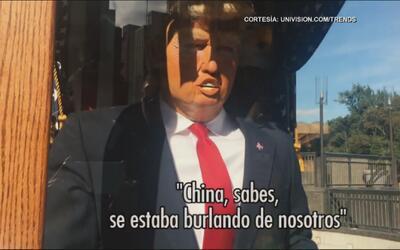 """Polémica estatua de Donald Trump predice la """"mala fortuna"""""""