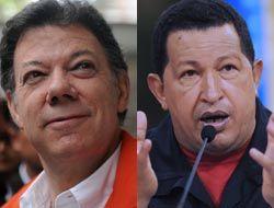 Chávez dice que Santos es una 'amenaza' para Venezuela; Santos lo acusa...