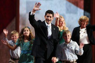 El legislador Paul Ryan, candidato vicepresidencial del Partido Republic...