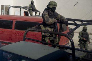 Vigilancia militar en Tamaulipas, México.