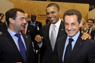 Los presidentes de Rusia, Dmitri Medvedev, Estados Unidos, Barack Obama,...