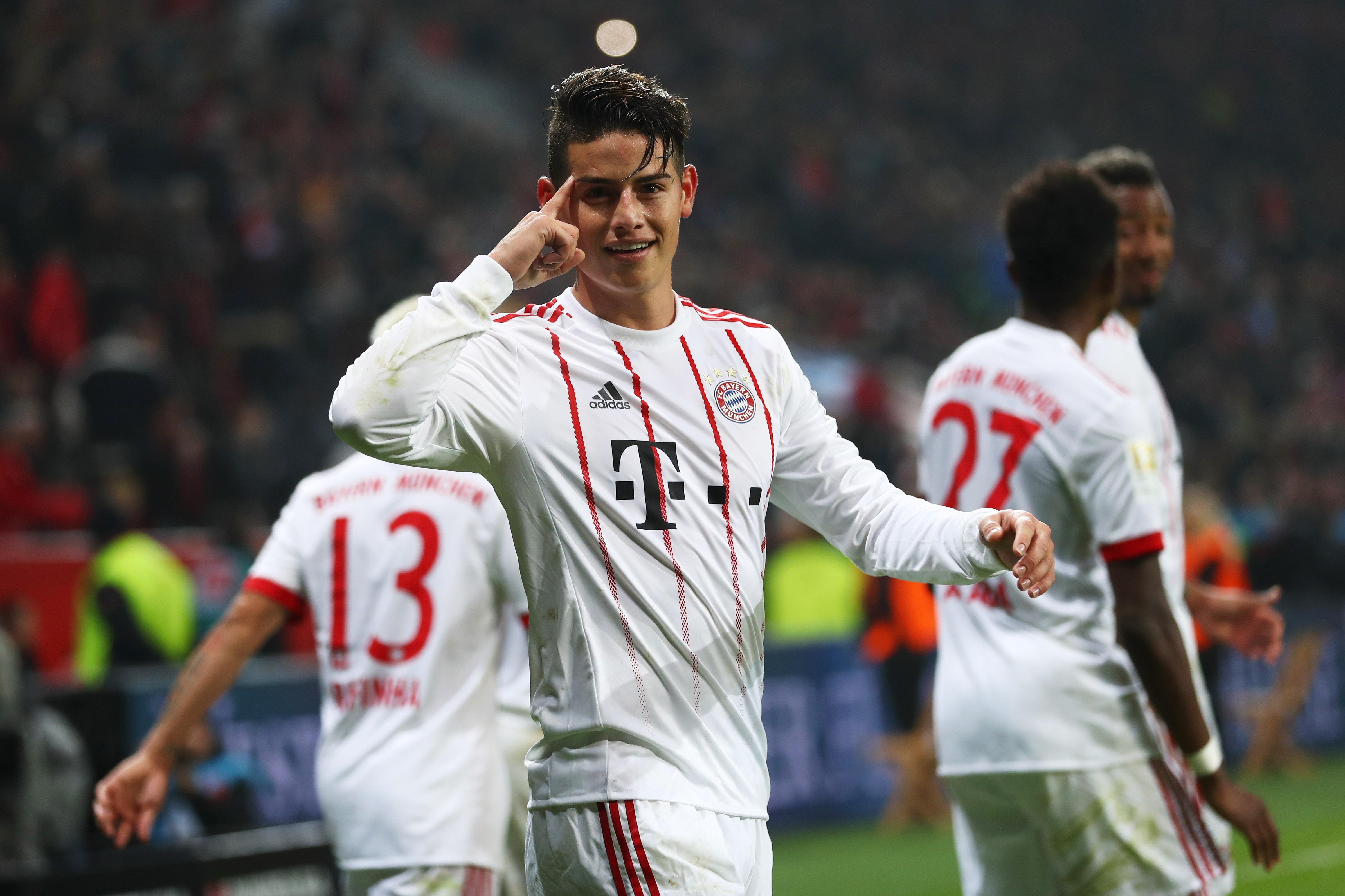 James cerró el triunfo del Bayern ante el Leverkusen en la ...