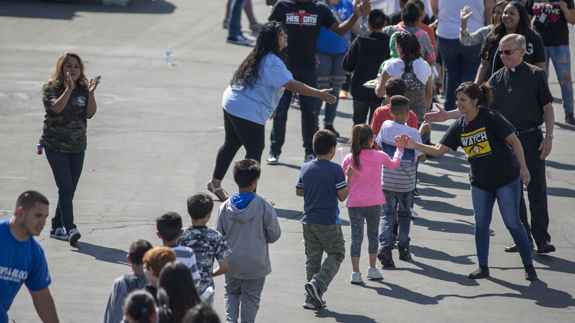 Se reanudan las actividades en la escuela North Park de San ...