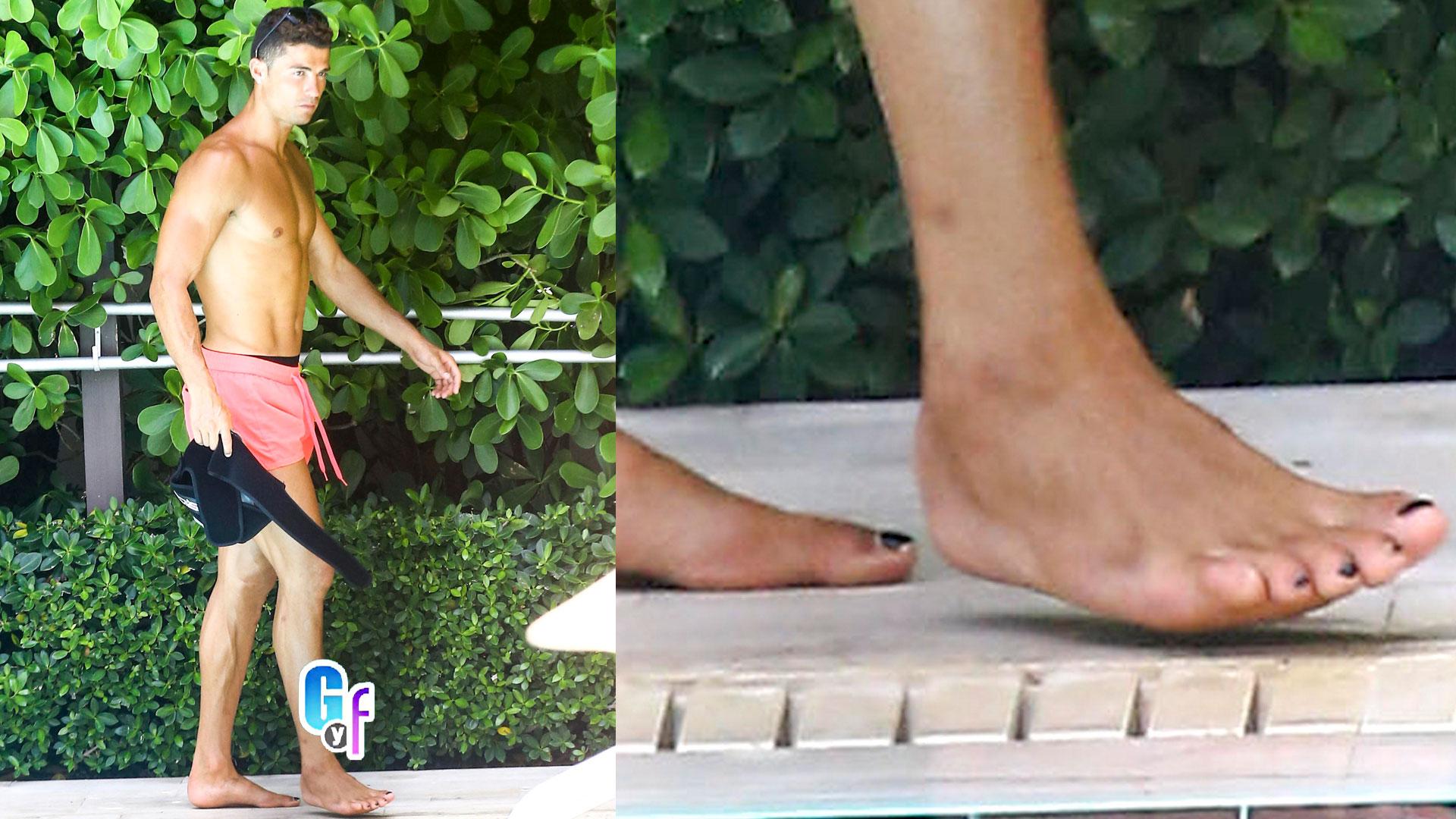 Cacharon a Cristiano Ronaldo en Miami con las uñas de los pies ...