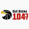 Logo Austin Qué Buena 104.3 FM