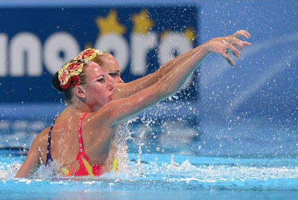También se disputaron las finales de Natación Sincronizada rutina libre...