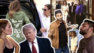 Las reacciones ante el mensaje en la chaqueta de Melania Trump al visitar a los niños inmigrantes