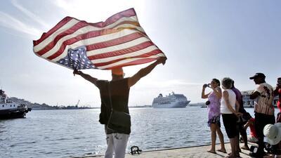 Histórico crucero de vuelta a Estados Unidos