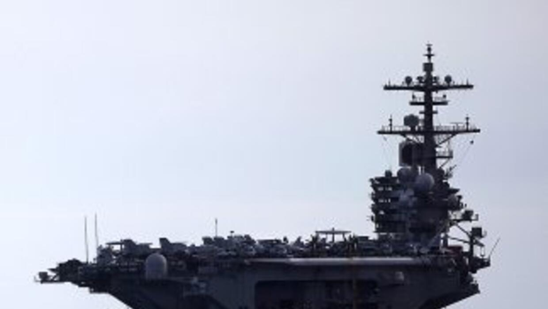 """El """"USS George H.W. Bush""""."""