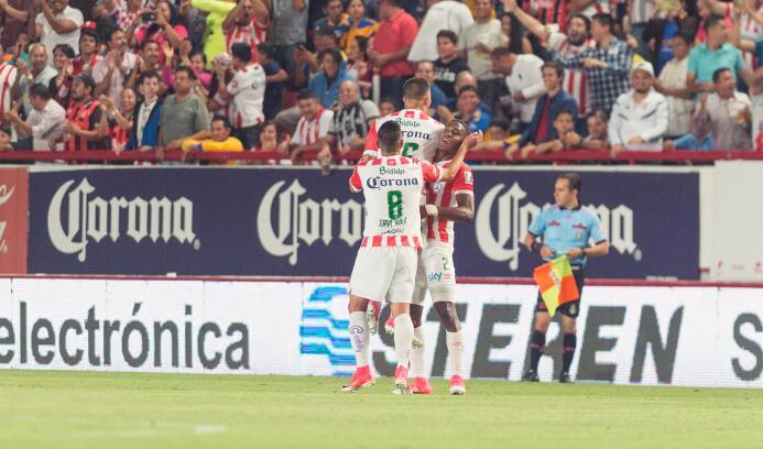 Necaxa y Tigres empatan en emocionante partido Gol necaxa.jpg