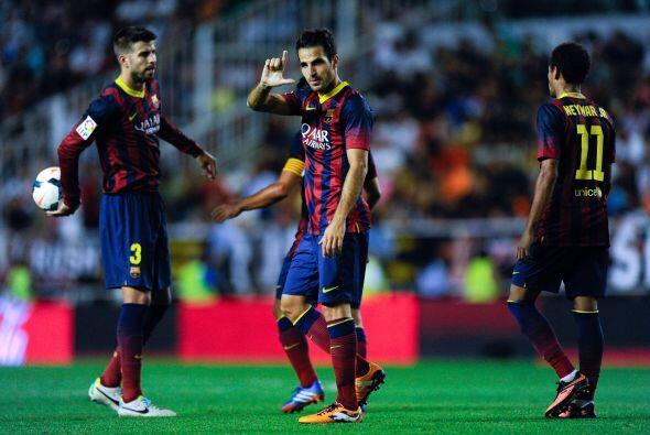 Así el Barcelona logró su quinto triunfo en igual número de partidos en...