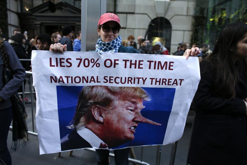 """""""Miente 70% del tiempo. Es una amenaza a la seguridad nacional&quot..."""