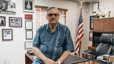 Former Maricopa County Sheriff Joe Arpaio during his interview with Univ...