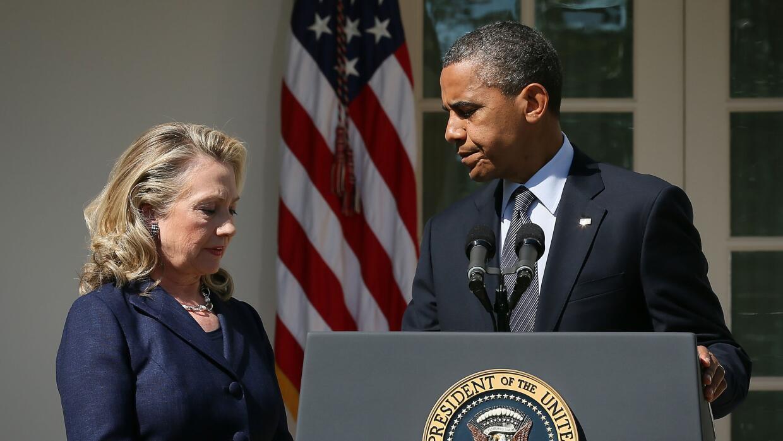 Hillary Clinton y Barack Obama
