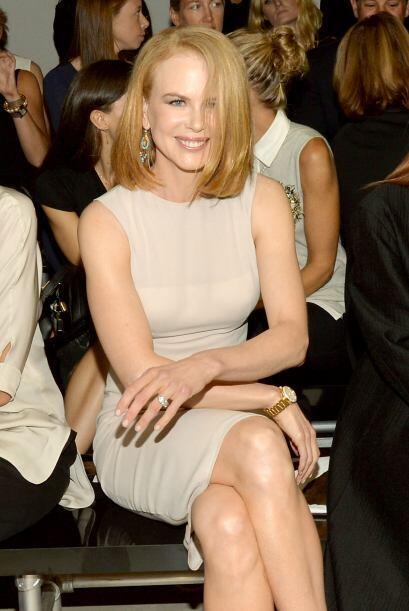 Pese a ser arrollada por un 'paparazzi' en bicicleta, Nicole Kidman no p...