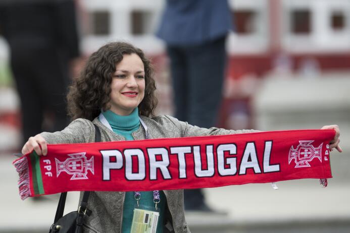 La belleza se tomó la previa del Portugal-Nueva Zelanda en San Petersbur...