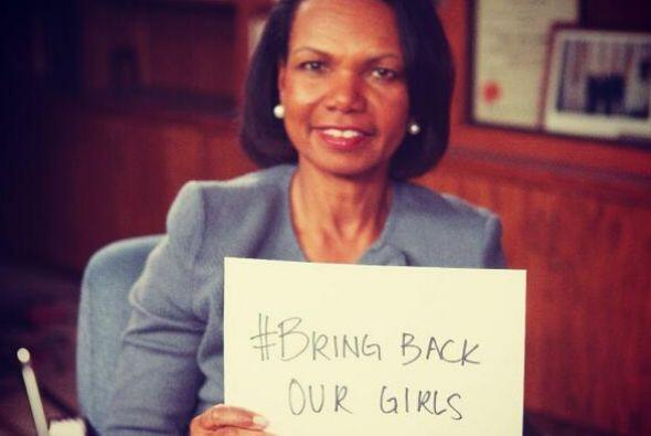 Condoleezza Rice pide por las niñas nigerianas. Fotos: Twitter
