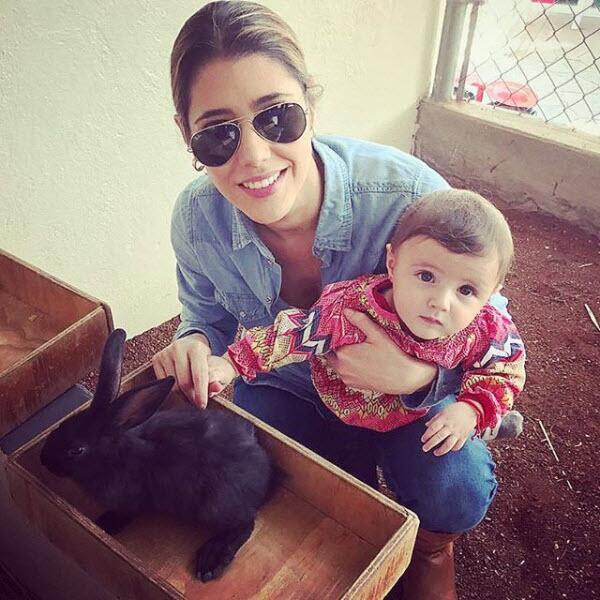 Michelle Ramaglia y su hija