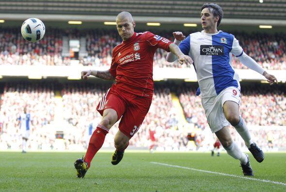 Por su parte, el Liverpool recibía al Blackburn Rovers.