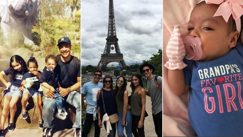 Johhny Lozada con sus hijos y nieta Pequeños Gigantes USA
