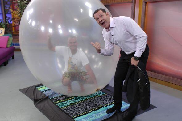 ¿Cómo me meteré ahí dentro? James, el hombre burbuja, tenía la respuesta.