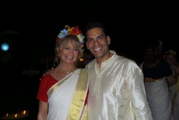 Ahí conoció a la legendaria actriz Goldie Hawn.