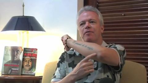 """Jhon Jairo Velásquez y su tatuaje de """"El general de la mafia..."""