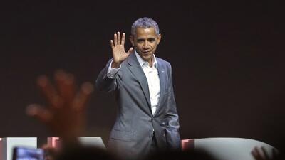 Barack Obama durante un discurso ante el cuarto Congreso de las Diáspora...