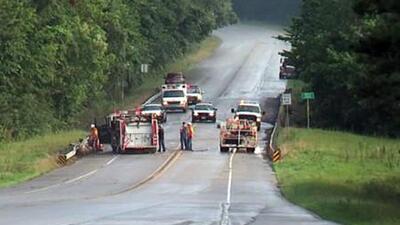 Seis personas murieron al impactarse dos autos de frente
