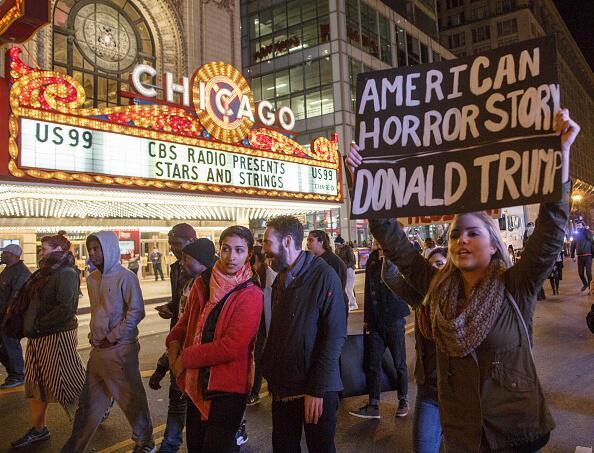 Marcha anti trump en Chicago
