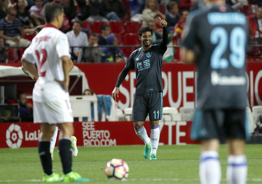 Carlos Vela metió el gol de la Real Sociedad en el 1-1 en Sevilla 636296...