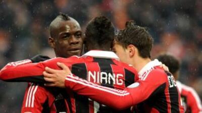 Pese a que los 'rossoneri' no jugaron su mejor partido, ganaron con dos...