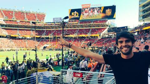 El brasileño Kaká compartió una foto desde el Levi's Stadium.