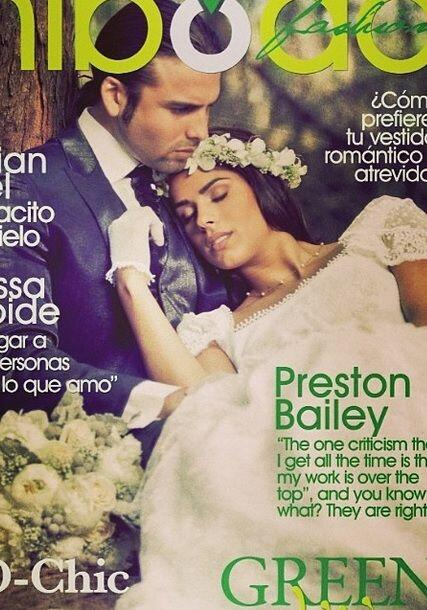 Así luce Vanessa con un vestido de boda. ¡Qué tal!