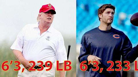 Según el informe médico, Trump mide lo mismo que el jugador de fútbol am...