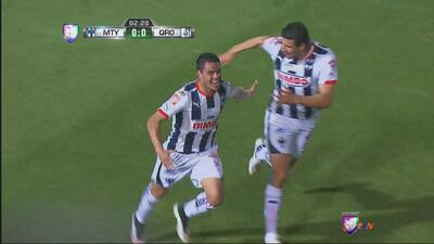 Gran jugada de Barrera para el gol de Monterrey ante Querétaro