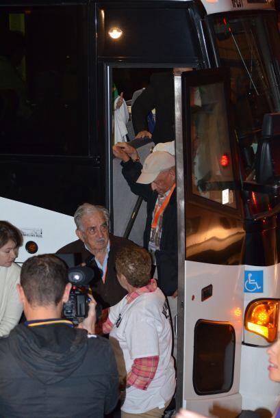 Los autobuses traían ancianos y personas discapacitadas.