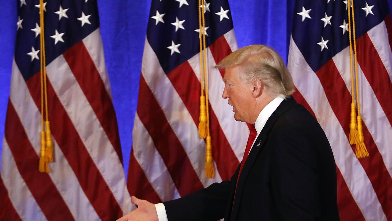 En su primera rueda de prensa el pasado miércoles, Trump catalogó las ac...