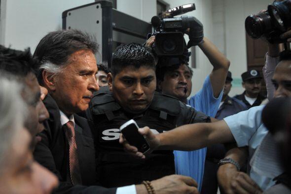La defensa de Alfonso Antonio Portillo Cabrera buscó la liberación inmed...