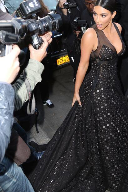 Mira nada más la carita de Kim.
