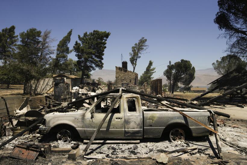 Lake Isabella, 40 millas al este de Bakersfield, ha sido devastado.